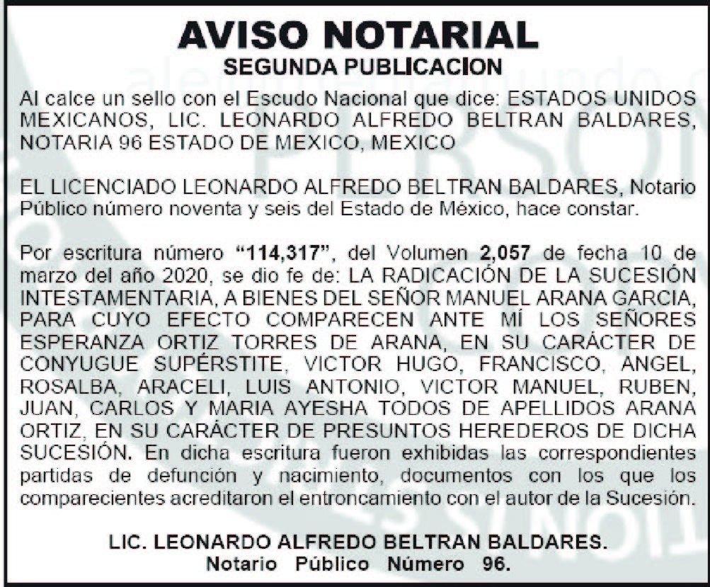 publicar aviso notarial en periodicos